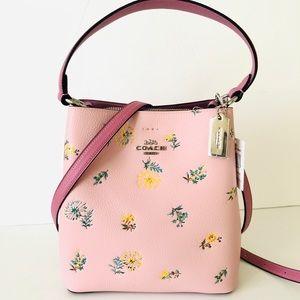 Coach Small Town Bucket Bag Dandelion Floral Purse